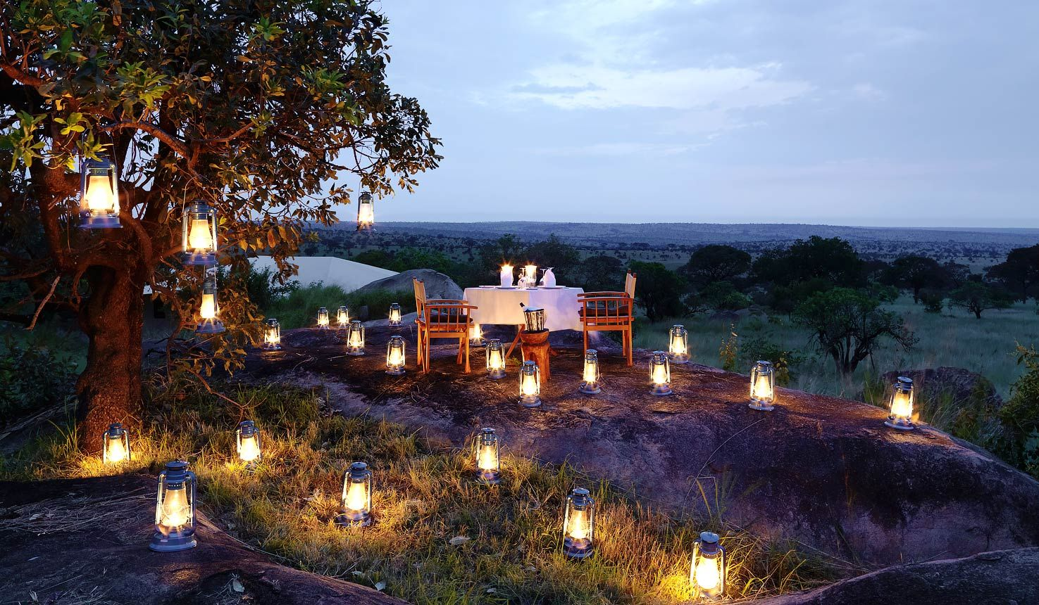 A candle-lit dinner in the great outdoors overlooking a breathtaking view of the magnificent East African landscape will make your African safari honeymoon a memorable one.