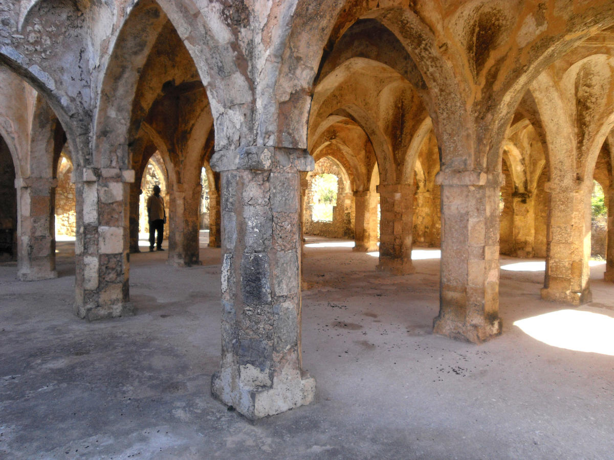 UNESCO Heritage Sites - kilwa kisiwani mosque arches