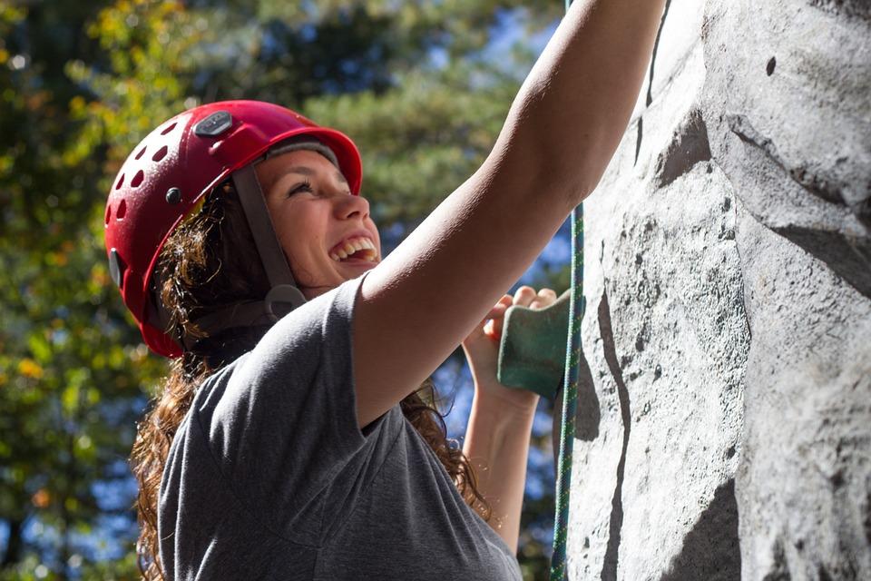 rock climbing as practice - preparing to climb Kilimanjaro