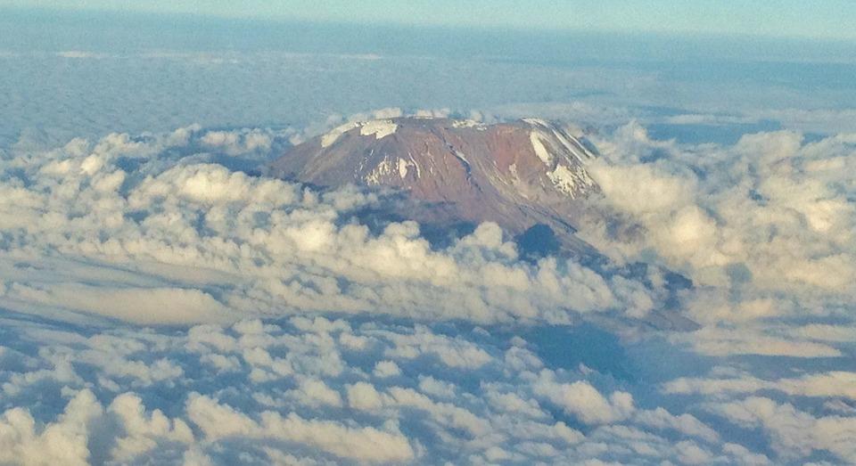 mount kilimanjaro view from the sky - preparing to climb Kilimanjaro