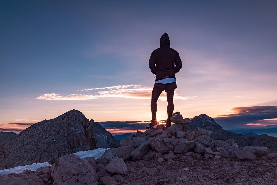 high mountain peak - preparing to climb Kilimanjaro